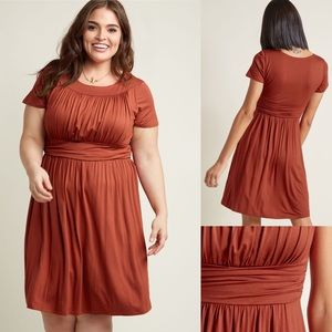 Style Obsession Jersey Dress in Paprika